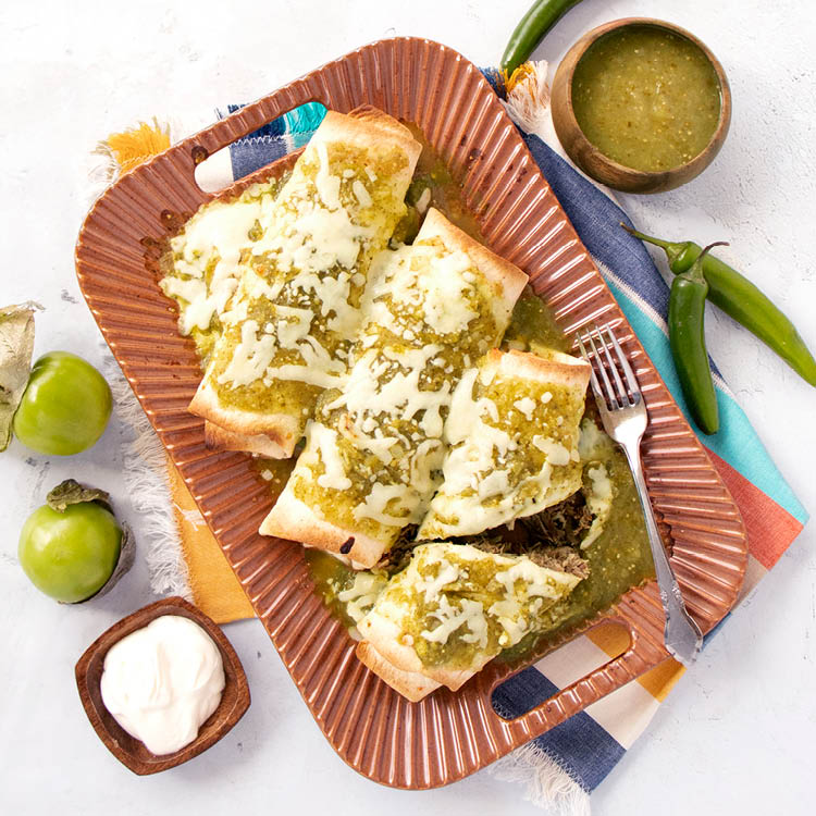 Chicken Tomatillo Enchilada