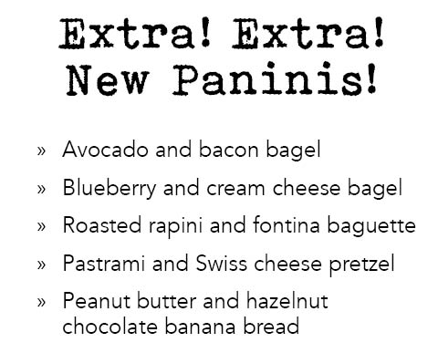 New Panini Flavours