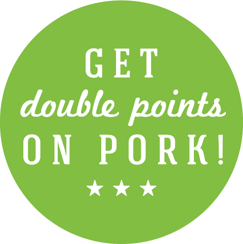 Get Double Points on Pork