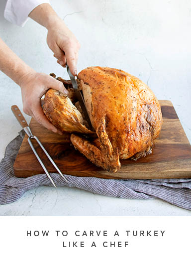 How to carve a turkey like a chef