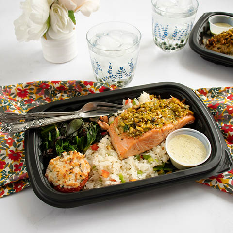 Pistachio Crusted Salmon Meal