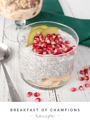 Pomegranate Banana Chia Parfait