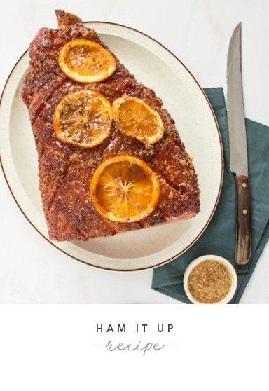 Orange and Brown Sugar Glazed Ham