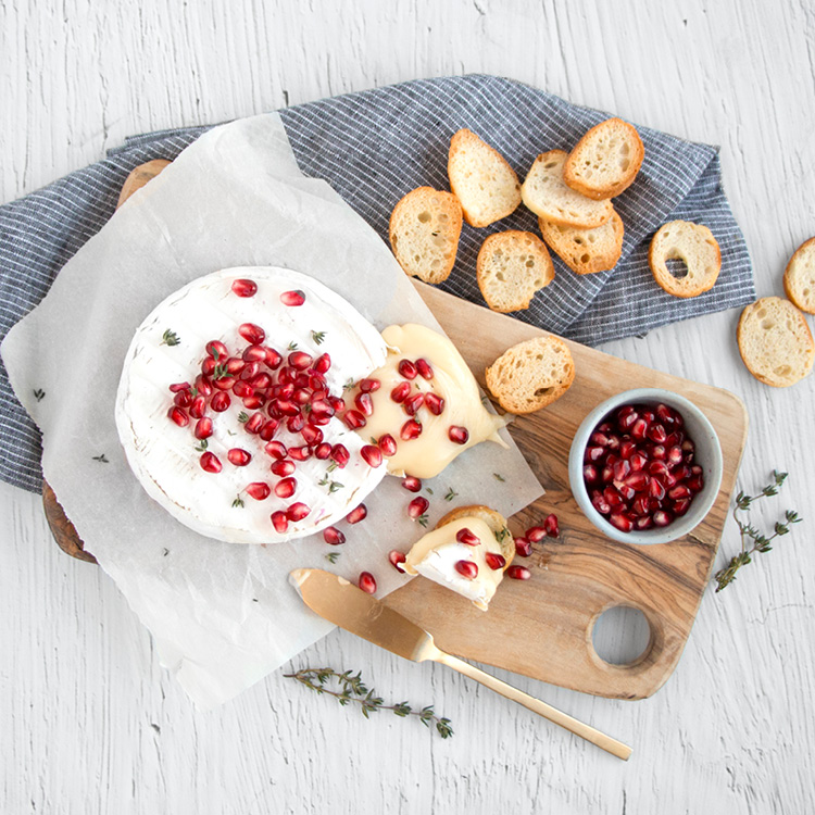 Baked Brie with Pomegranate